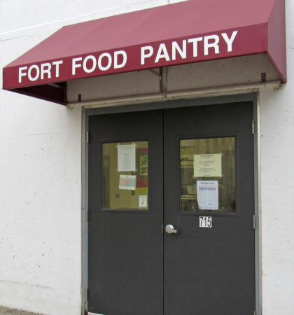 Front Door of the Fort Atkinson Food Pantry